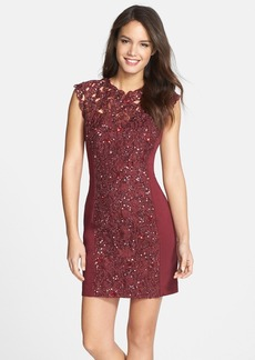 French Connection Embellished Lace Sheath Dress