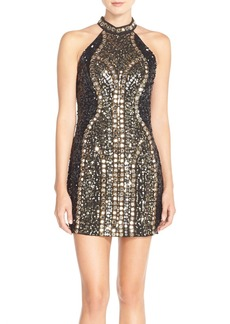 French Connection Embellished Woven Minidress