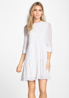 French Connection Embroidered Chiffon Babydoll Dress