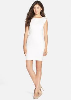 French Connection Extended Sleeve Cotton Blend Sheath Dress