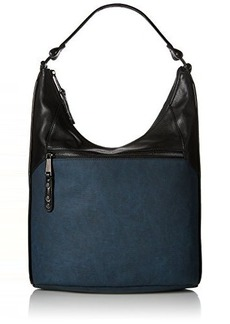 French Connection Farrah Hobo Bag, Navy/Black, One Size