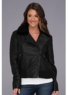 French Connection Fast Faux  Leather Jet 75AXD Jacket