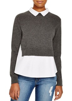 FRENCH CONNECTION Fast Fresh Knits Layered Look Sweater