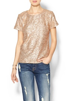 French Connection Fast Mini Sequin Top