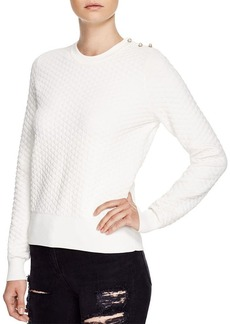 FRENCH CONNECTION Fast Tiffany Textured Sweatshirt