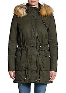 French Connection Faux-Fur-Collar Parka