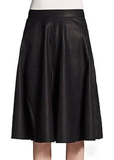 French Connection Faux Leather A-Line Skirt