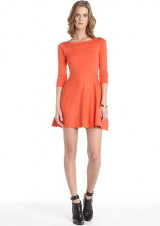 French Connection favela red cotton blend 3/4 sleeve sweater dress