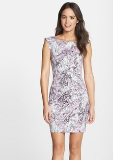 French Connection 'Flight of Fancy' Print Cotton Sheath Dress