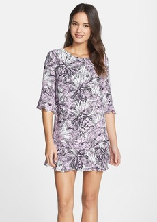 French Connection 'Flight of Fancy' Print Ruffle Trim Shift Dress