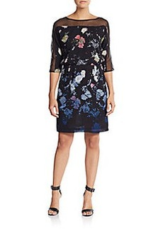 French Connection Floral Illusion Blouson Dress