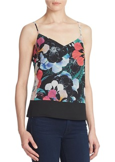 FRENCH CONNECTION Floral-Print Colorblocked Cami