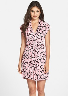 French Connection Floral Print Tie Waist Dress