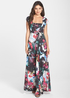 French Connection 'Floral Reef' Print Cap Sleeve Maxi Dress