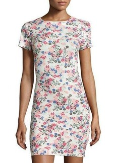 French Connection Floral Short-Sleeve Sheath Dress