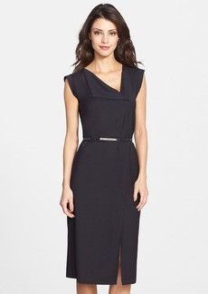 French Connection 'Frankie' Belted Suiting Dress (Online Only)