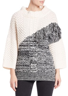 FRENCH CONNECTION Fringed Chunky Sweater