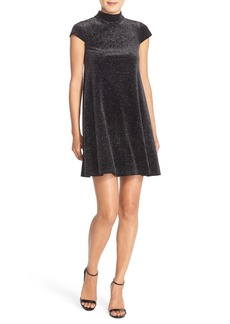 French Connection 'Galaxy Stars' Mock Neck Cap Sleeve Shift Dress