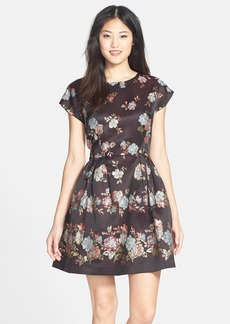 French Connection 'Gardini' Floral Jacquard Fit & Flare Dress