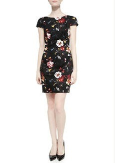 French Connection Gardini Floral-Print Sateen Dress