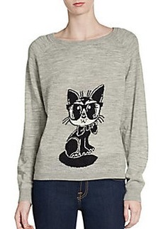 French Connection Geeky Cat Wool Sweater