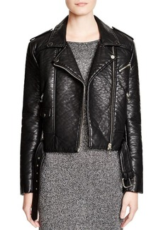 FRENCH CONNECTION Generation Faux Leather Moto Jacket