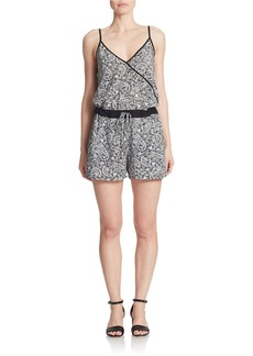 FRENCH CONNECTION Geo Print Jacquard Romper