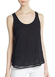 French Connection Glitter Beaded Tank