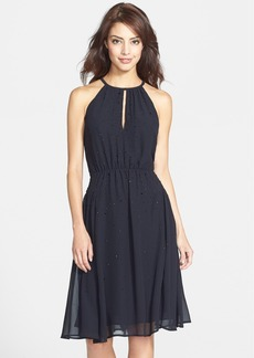 French Connection 'Glitter Spells' Embellished Chiffon Dress