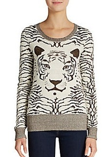French Connection Glitter Tiger Sweater