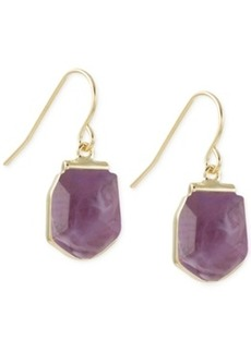 French Connection Gold-Tone Stone Drop Earrings