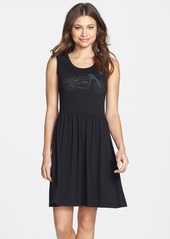French Connection Graphic Jersey Tank Fit & Flare Dress