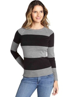 French Connection grey and black striped crewneck sweater