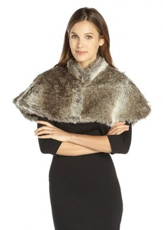 French Connection grey faux fur 'Bettina' Cape
