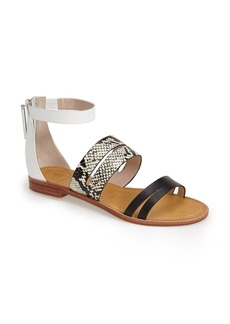 French Connection 'Harley' Leather Ankle Strap Sandal (Women)