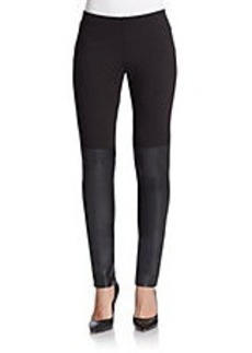 FRENCH CONNECTION Hells Leather-Panelled Leggings