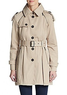 French Connection Hooded Cotton-Blend Trench Coat