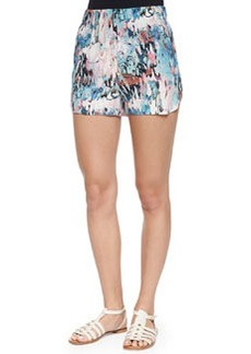 French Connection Isla Ripple Vented Shorts, Daydream/Multicolor