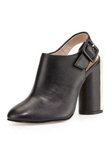 French Connection Izzy Sheep Leather Slingback Bootie, Black