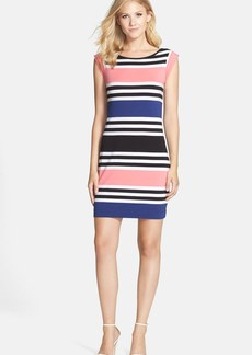 French Connection 'Jag' Stripe Stretch Cotton Knit Dress