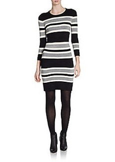 French Connection Jag Stripe Sweater Dress