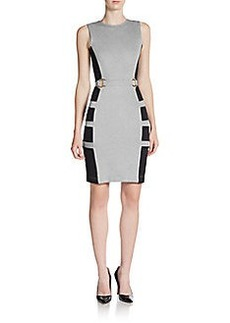French Connection Jennifer Colorblock Cutout Sheath Dress