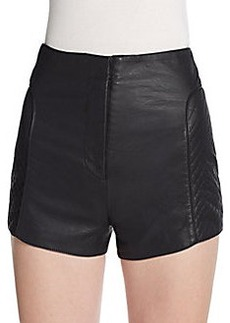 French Connection Jetson Faux Leather Shorts