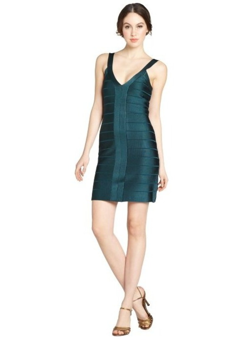 French Connection jewel green stretch 'Foxy Faye' body con dress