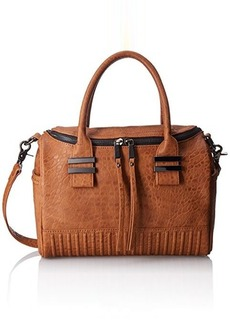 French Connection Kim Satchel Convertible Shoulder Bag, Nutmeg, One Size