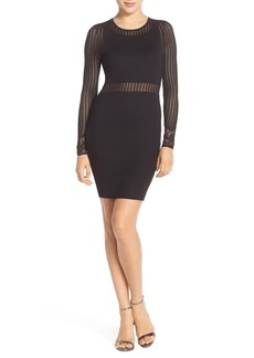 French Connection Knit Mesh Body-Con Dress