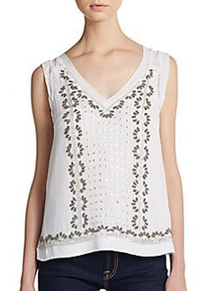 French Connection La Boheme Beaded Top