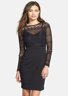 French Connection Lace Bodice Sheath Dress