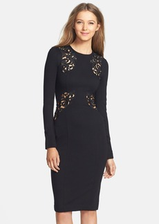 French Connection Lace Inset Body-Con Dress