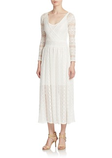 FRENCH CONNECTION Lace Overlay Maxi Dress